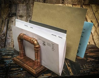 Industrial Style Copper Pipe Letter Holder