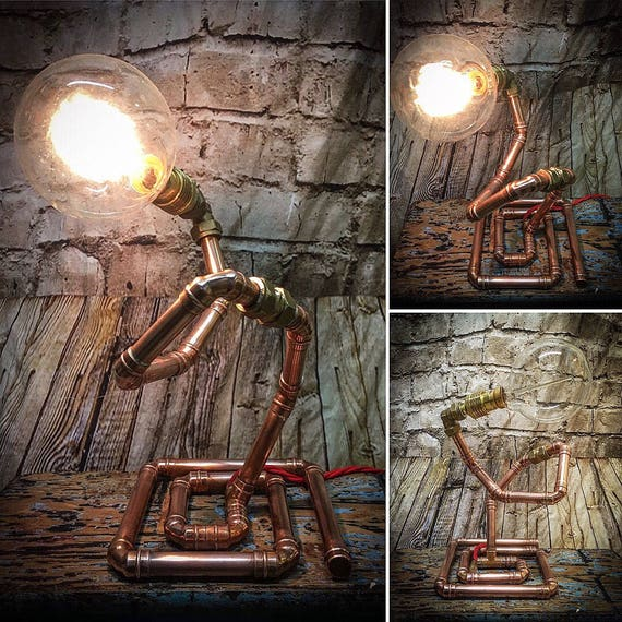Spiral Copper pipe lamp