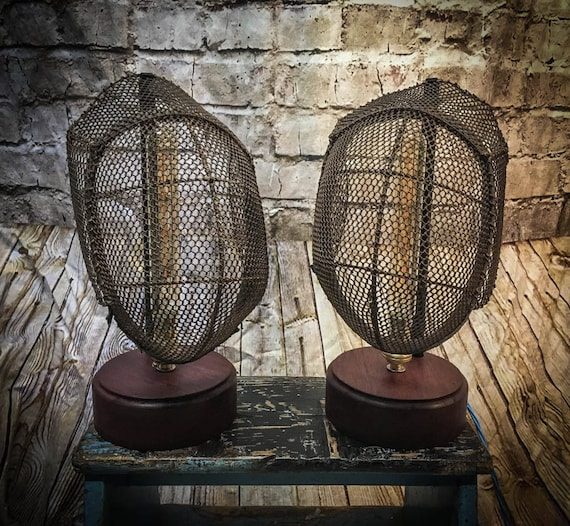 Vintage Fencing Mask Table Lamp