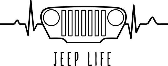 Download SVG Cut File For Cricut Jeep Life   Etsy