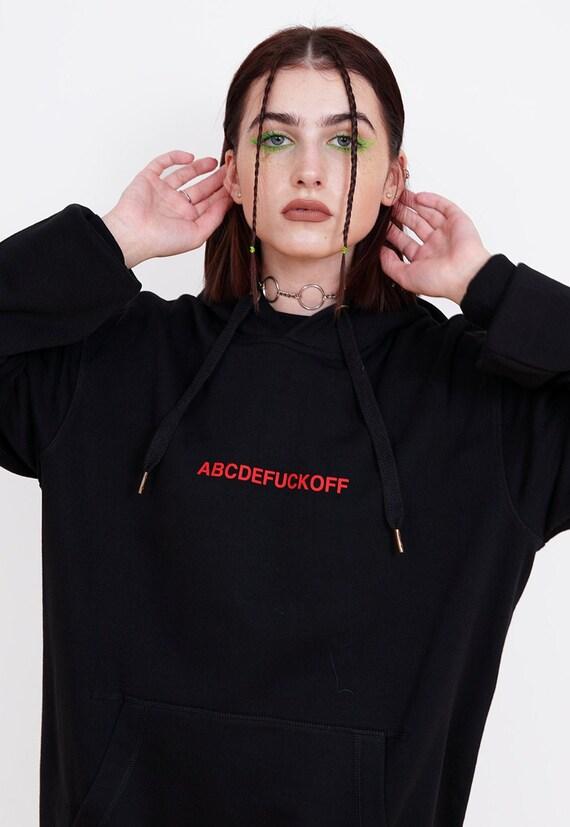Abcdefuckoff Hoodie Aesthetic Clothing Aesthetic Hoodie Etsy