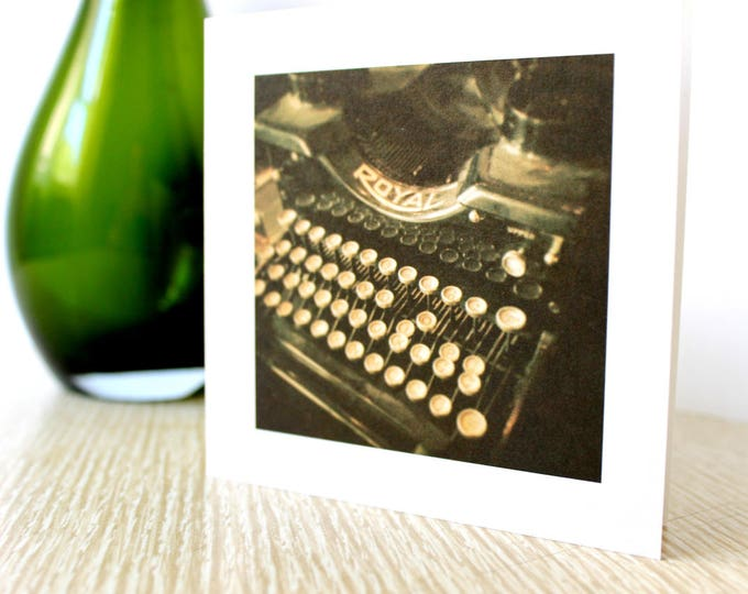 "Friendship/Any Occasion Greeting Card ""Typewriter"""