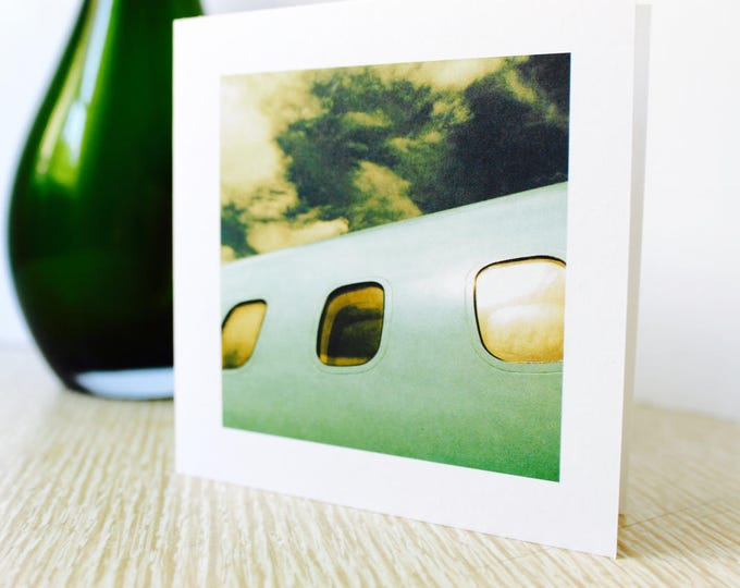 "Moving/Birthday Greeting Card ""Airplane"""