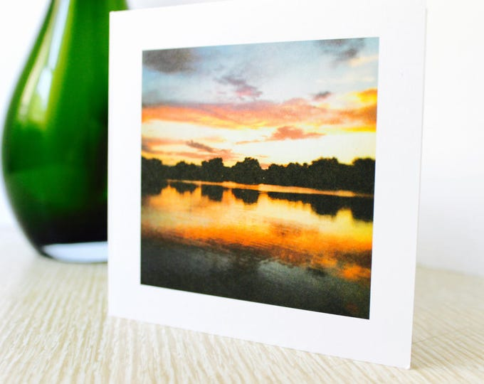 "Any Occasion/Friendship Greeting Card: ""Pink Sunset"""