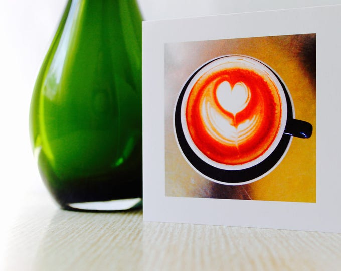 "Valentine's Day/Any Occasion Greeting Card ""Coffee Love"""