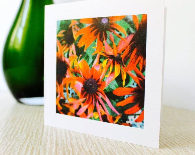"Any Occasion/Birthday Greeting Card: ""Red Flowers"""