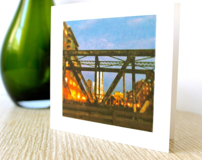 "Friendship/Any Occasion Greeting Card ""Downtown Bridge"""