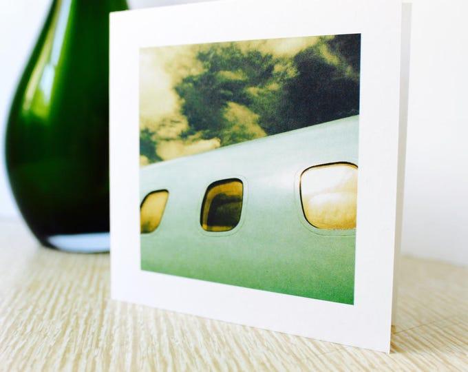"Moving/Birthday Greeting Card ""Airplane"""