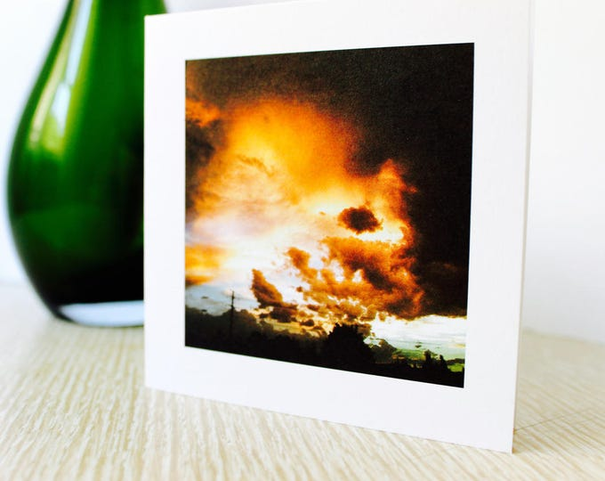"""Friendship/Any Occasion Greeting Card """"Sunset Over the City"""""""