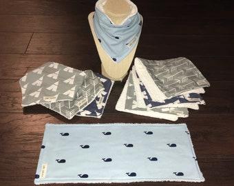 Burp Cloth and Bib Set