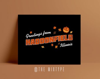 Greetings From Haddonfield. Halloween, Michael Myers, Horror, 70s, 80s