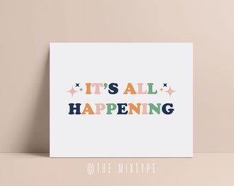 ALMOST FAMOUS Movie Quote, It's All Happening - Penny Lane, Typography, Print