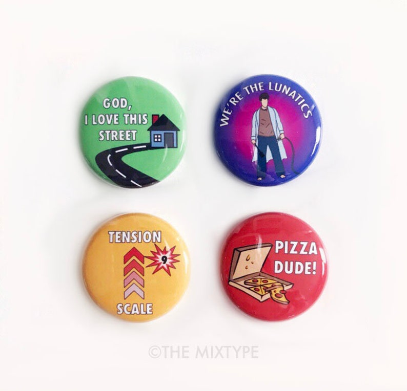 The Burbs One Inch Pinback Button Set image 0