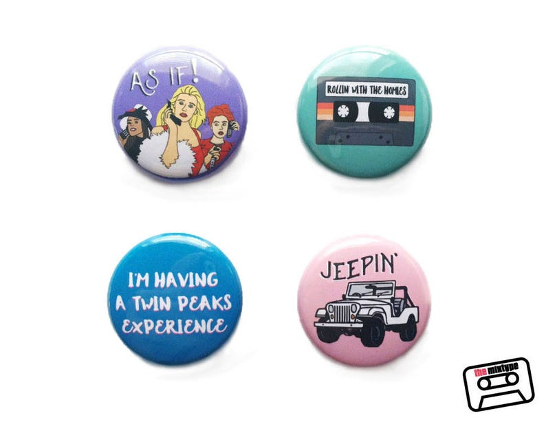 Clueless One Inch Pinback Button Set image 0
