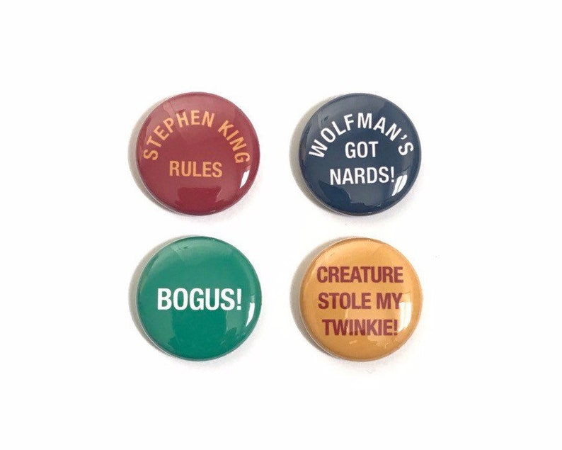 The Monster Squad One Inch Pinback Button Set image 0