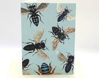 4-pack Australian native bee cards