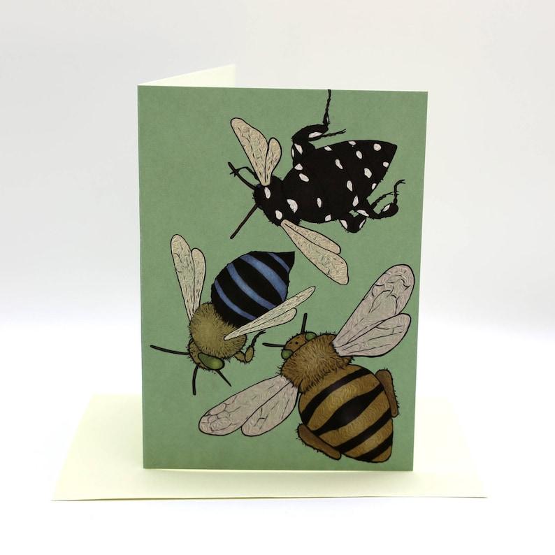 4-pack cartoon bee cards image 0
