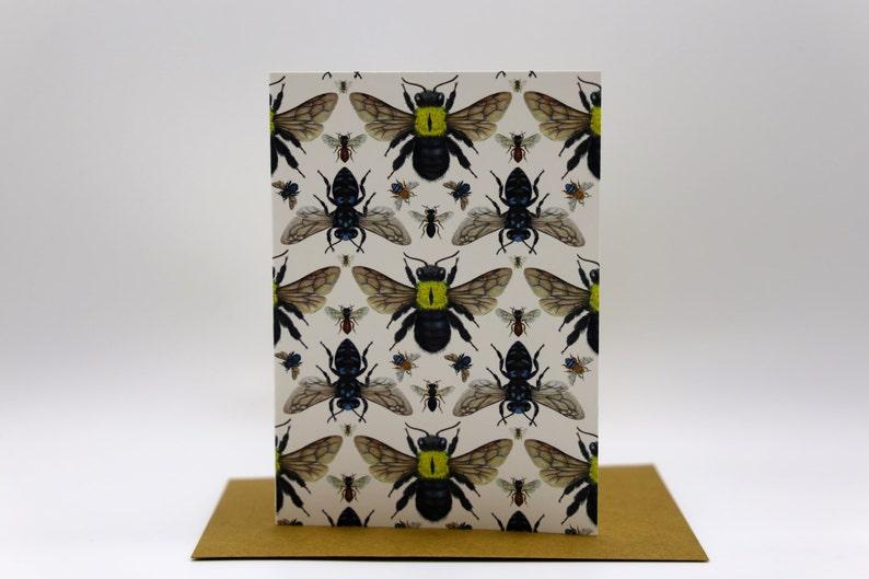 Australian Native Bee Cards x 4 image 0