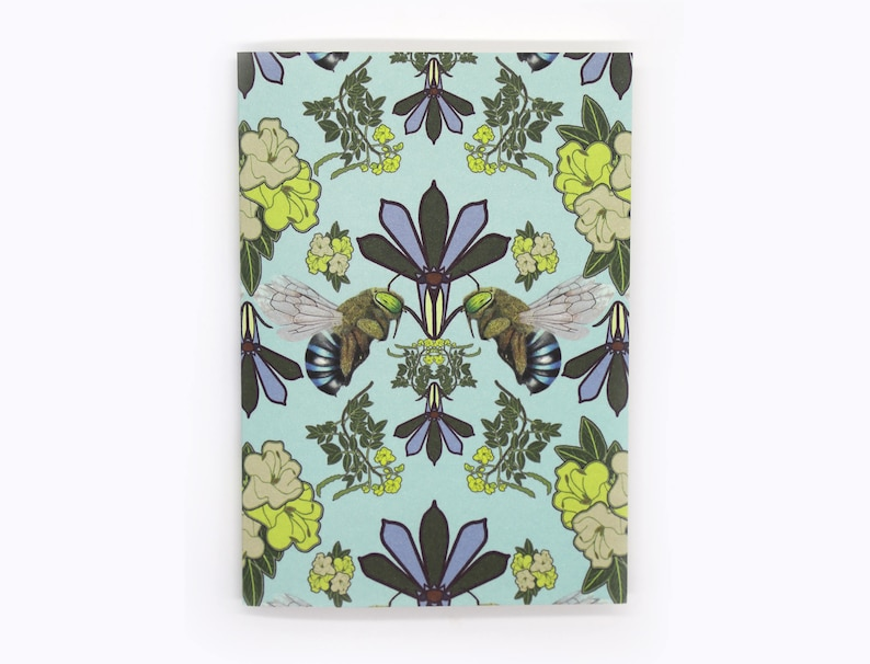 4-pack Blue-Banded Bee cards blue image 0