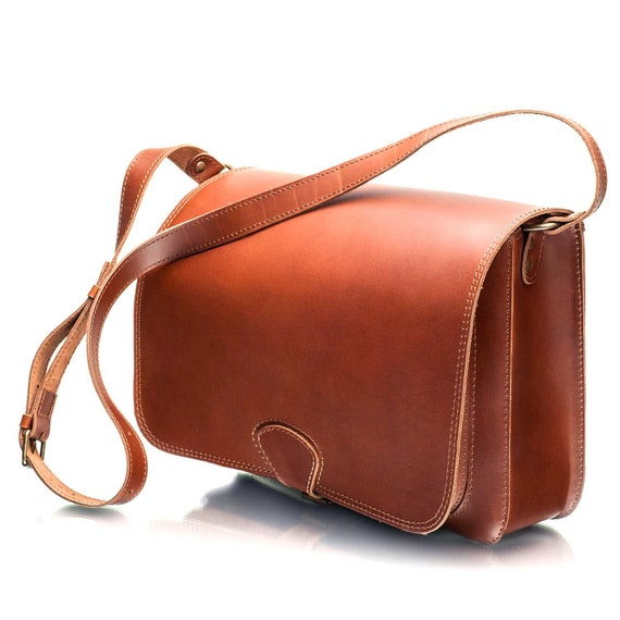 Real Leather Handmade Leather Shoulder Work iPad Messenger Bag