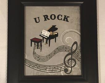 U Rock Piano Music Notes