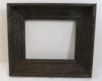 Unusual One of a Kind Vintage 8 x 10 Picture Frame Deep Scoop
