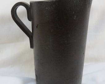 Old Antique Pitcher French Almo Fibre looks like Leather