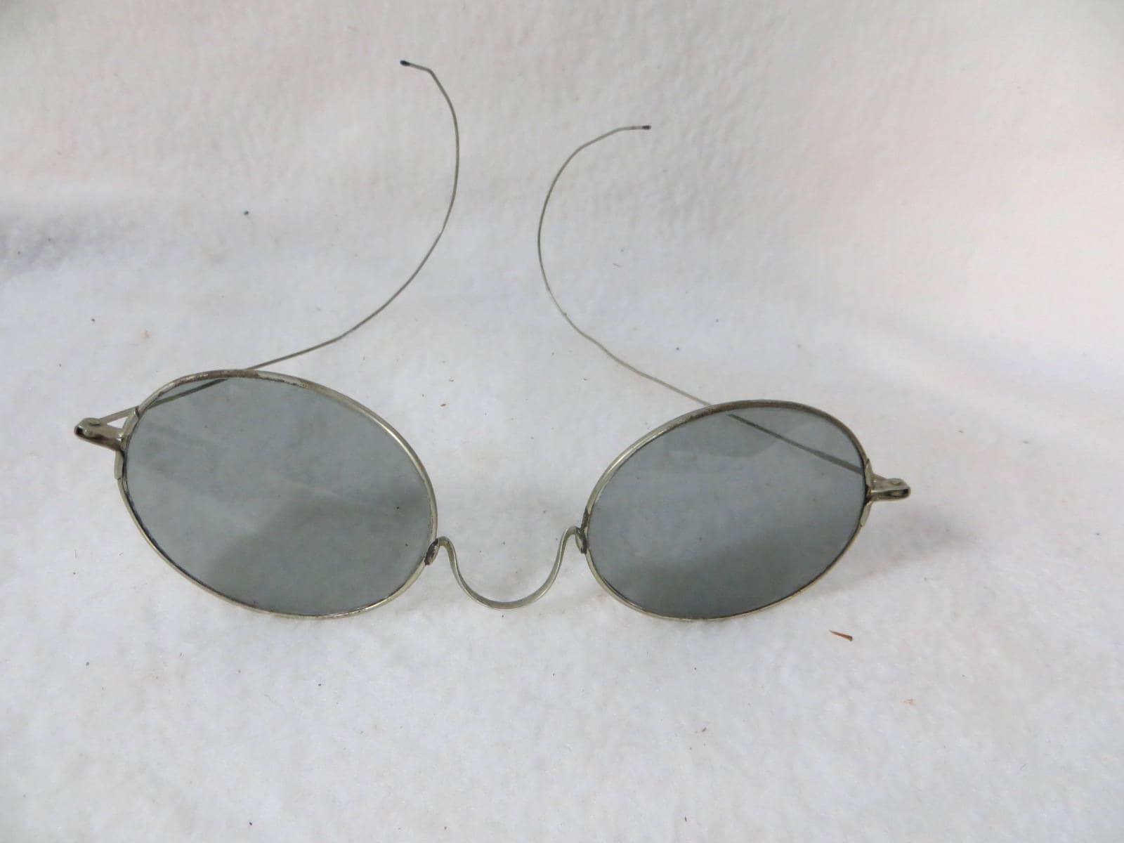 Antike Sonnenbrille Vintage Brille Draht umrandeten