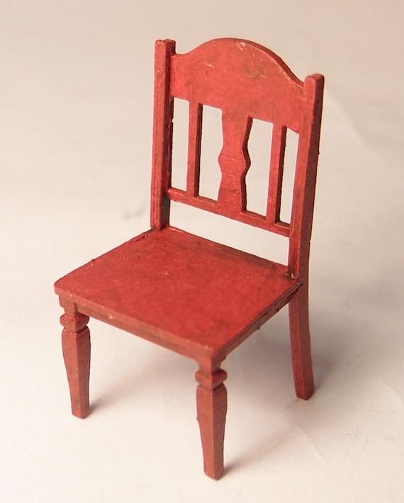 1 24 Scale Miniature Dollhouse Furniture Kit Carmel Chair