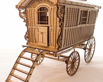 1:24 scale miniature kit 'Maude's gypsy wagon' for collectors