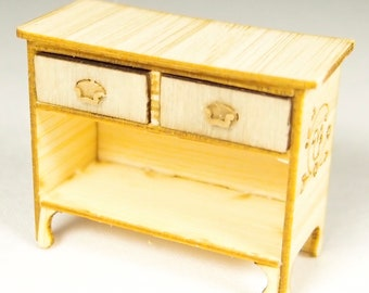 1:24 scale miniature dollhouse furniture kit Nutcote or Starburst chest
