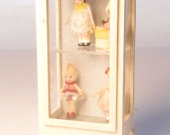 1:24 scale miniature dollhouse furniture kit Chantilly shop cabinet tall