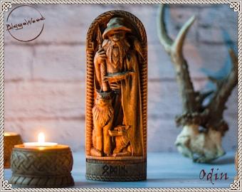 Odin, Wotan, Allfather, Norse pagan god statue, for Asatru Altar kit and heathen ritual