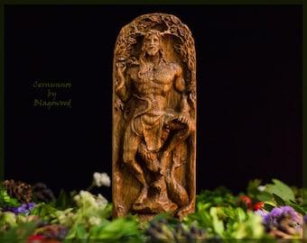 Cernunnos, horned god, Cernun, celtic god, pagan god, wiccan, wicca, altar, druid, witchcraft, gaelic