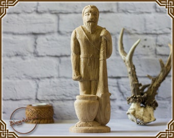 Dagda, wooden, irish, celtic, pagan god, wiccan, wicca, altar, druid, witcher, gaelic, mythology