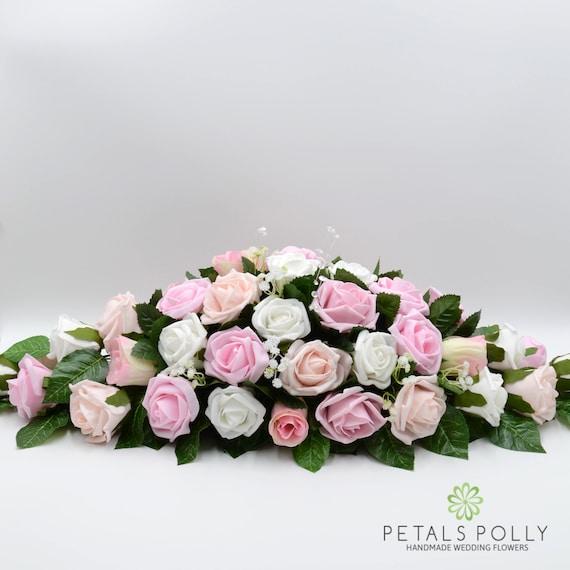 Kunstliche Hochzeitsblumen Rosa Altrosa Blush Pink White Etsy