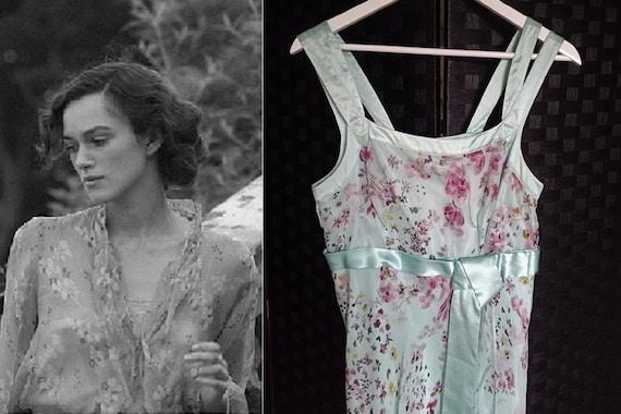 Silk Dress  Bias Cut Dress  Floral Dress  Vintage