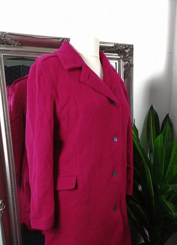 Vintage Alexon Coat  Wool Coat  Wool Jacket  Red C