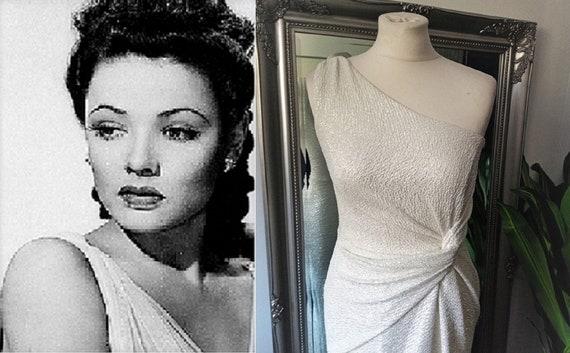Wedding Dress  Vintage Wedding Dress  Grecian Wedd