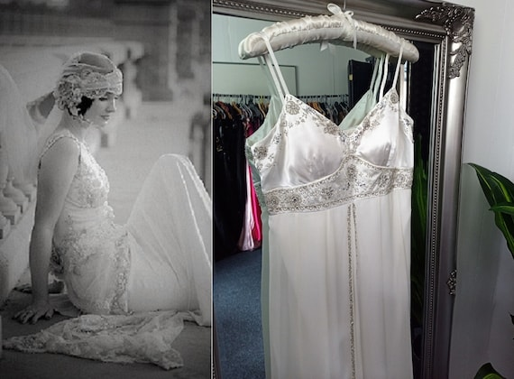 Vintage Wedding Dress  1920s Style Wedding Dress