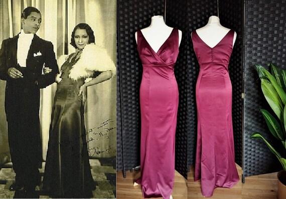 Satin Dress  Magenta Dress  Purple Dress  Prom Dre
