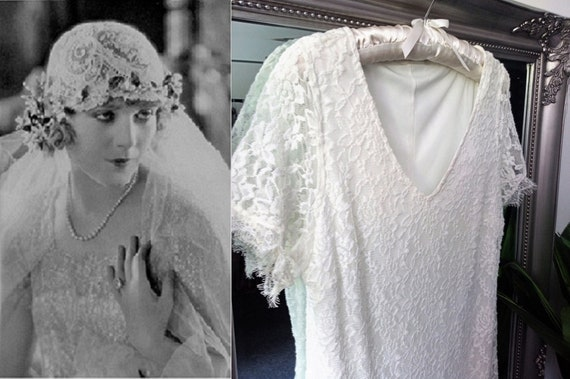 1930s Style Wedding Dress  Vintage Wedding Dress