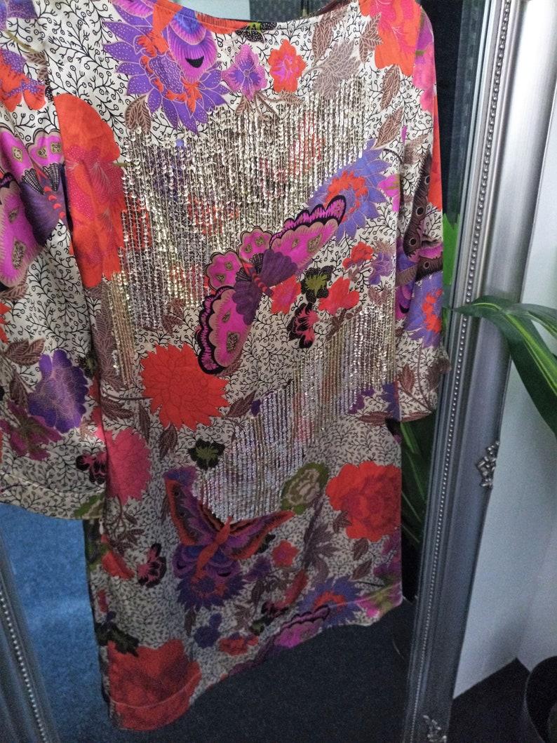 Satin Dress  Tunic Dress  Oriental Print Dress  Boho Dress  Sequinned Dress  Embellished Dress  Oriental Dress  Smock Dress  Tunic  Smock