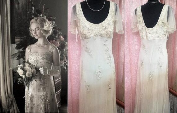 Vintage Wedding Dress  1920s Style Wedding Dress