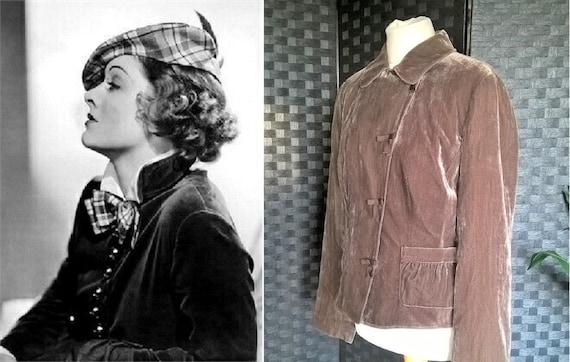 Velvet Jacket  Mink Velvet Jacket  Vintage Velvet