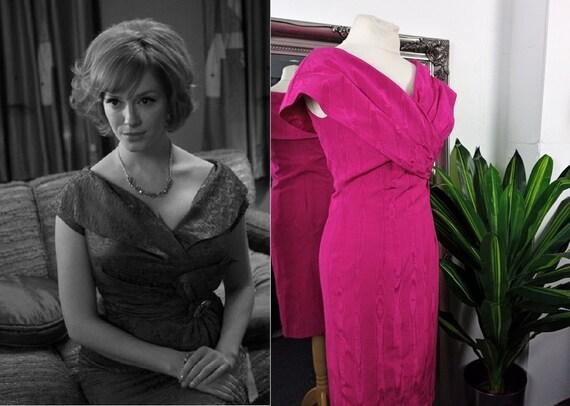 Pink Dress  Wiggle Dress  Bardot Dress  1950s Styl
