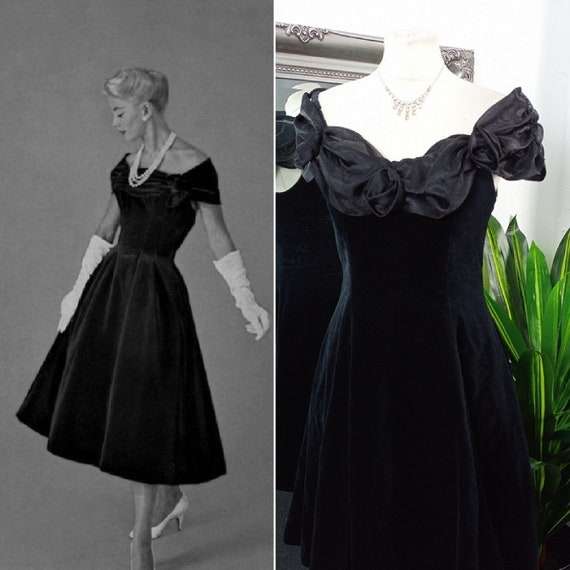 Velvet Dress  Off The Shoulder Dress  Vintage Ball