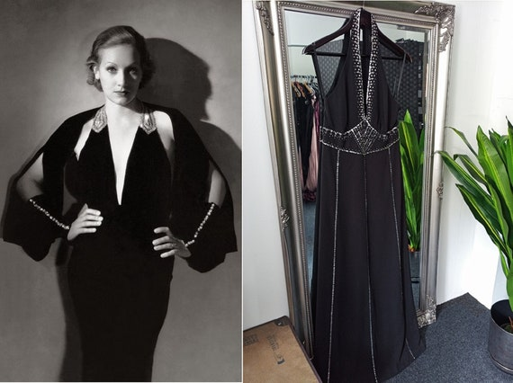 Black Dress  Sequin Dress  Halter Neck Dress  Embe