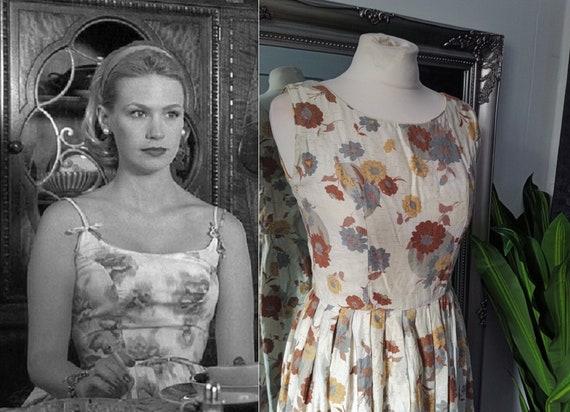 Vintage 1950s Dress  Mad Men Dress  1950s Dress  F