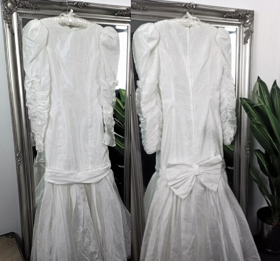 1980s Wedding Dress  Vintage Wedding Dress  White